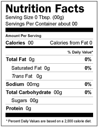 Nutritional facts template free programs utilities and for Nutrition facts label template download